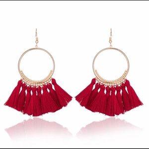 Jewelry - 🚨 5/$20 Red fringe tassel earrings